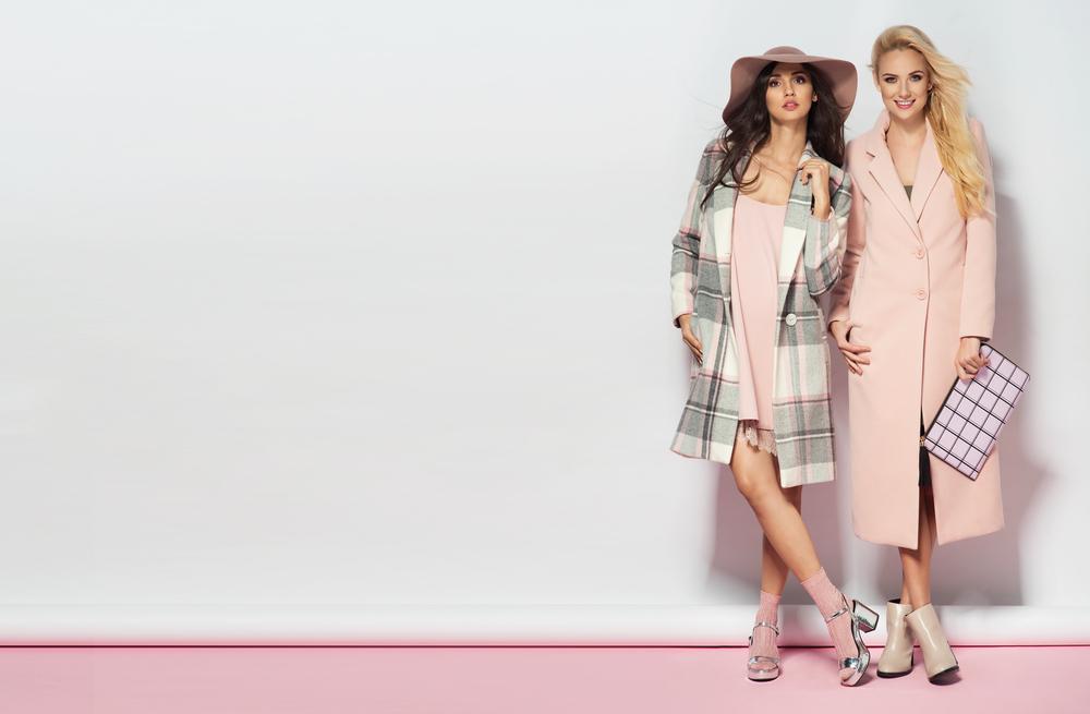 Fashionable Women In Sparkle Pink Work Wear