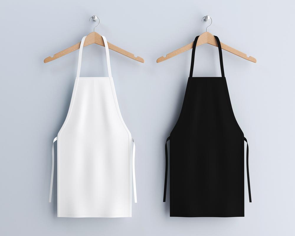 White & Black Aprons Mockup