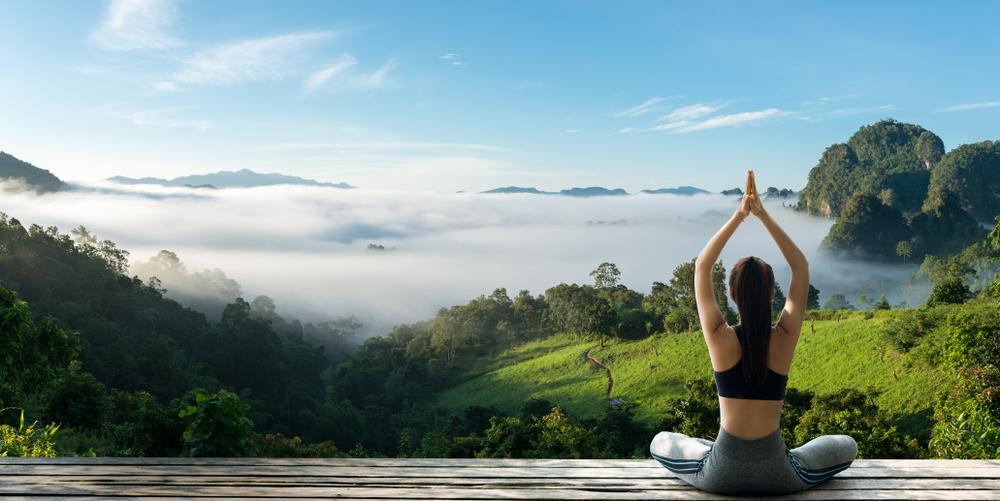 Yoga Practicing Yoga In Sportwear