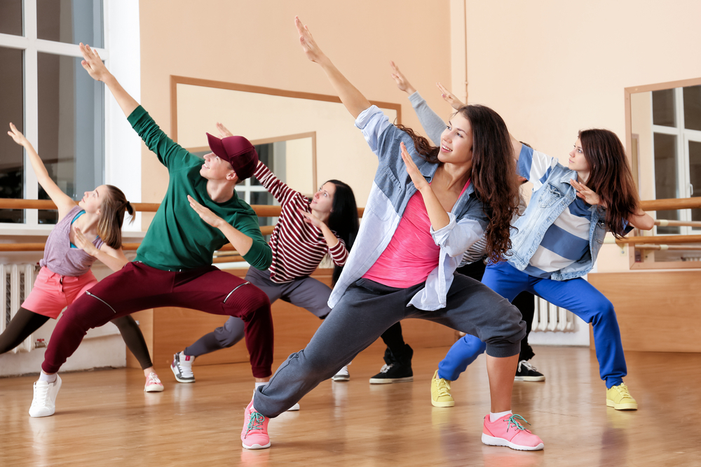 Dance group wearing athleisure
