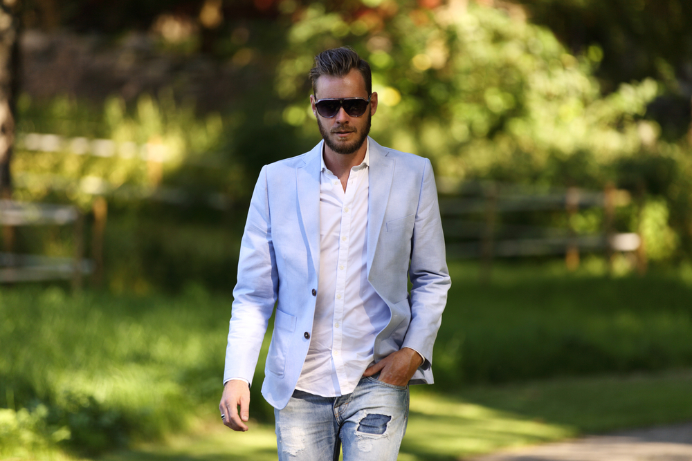 Linen Workwear Blazer For Men